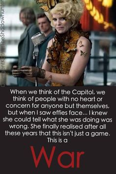 And it's also a message about how we are just like the Capitol. First world nations: obsessed with appearance, technology, prosperity. 2nd/3rd world: little electricity, no hot water, brutal governments, everyone just trying to survive