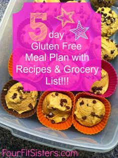 Four Fit Sisters: My Five Day Gluten Free Meal Plan (with recipes!) - http://www.pinterestshopping.com