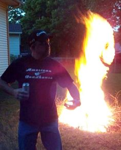 I have never got a pic that cool at a Compoundian Fire!