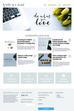 Web desgin | www.miryamartigas.com  #web #design #blogging #copywriting #photography