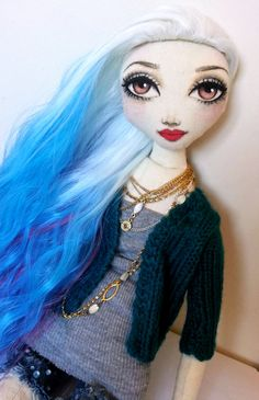 gorgeous new cloth doll now on etsy!