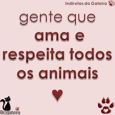 Blogateira: GENTE QUE AMA E RESPEITA TODOS OS ANIMAIS