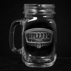 Groomsmen mason jars are a great personalized best man and groomsmen gift idea. Engraved Mason Jar Mugs are an excellent #wedding favor, wedding gift or somethin...