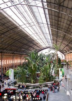 Estación de Atocha, Madrid. | Flickr: Intercambio de fotos
