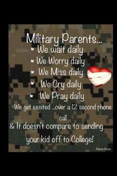 This is so true! I have sent a child into the Air Force and it doesn't compare