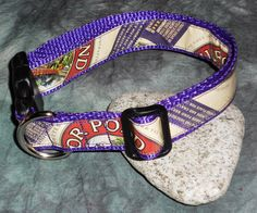 Adjustable Dog Collar from Recycled Mirror Pond Beer Labels by squigglechick, $20