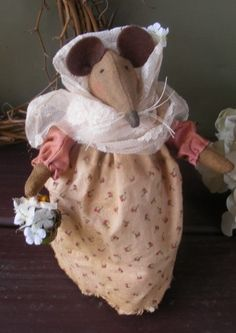Betsy the Country Mouse  EPattern by SnugglebugBlessins on Etsy, $5.00 - Designed by Cathy Gray