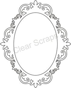 Medium Oval Fancy Frame