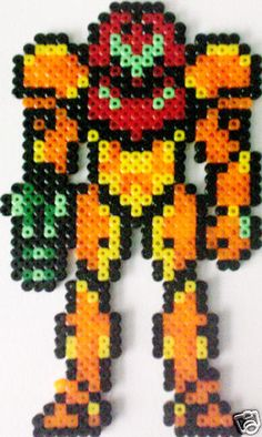 Samus Metroid NES Perler Art
