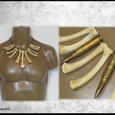 BRASS BULLET Necklace BONE Necklace APOCALYPTiC Necklace Mad Max Necklace Fallout Necklace Wasteland Necklace by WastelandWearable