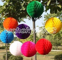 Multicolor Honeycomb Ball Paper Lanterns Wedding Birthday Party Home Decorations