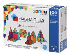 Magna-Tiles Clear Colors DELUXE Set, The Original, Award-Winning Magnetic Building Tiles for Kids, Creativity and Educational Building Toys for Children, STEM Approved Educational Toys For Preschoolers, Best Educational Toys, Activities For Kids, Science Activities, Three Year Olds, 1 Year Olds, Magna Tiles, Thing 1, Language Development