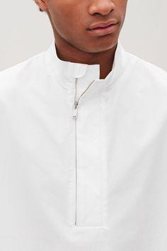 Cos Drawstring Short-Sleeved Shirt - White S Latest Clothes For Men, Designer Clothes For Men, Stylish Shirts, Casual Shirts, Kurta Pajama Men, Gents Kurta Design, Mode Man, Only Shirt, Indian Men Fashion