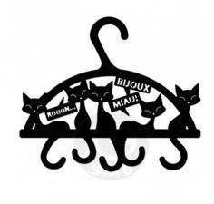 Porta Bijoux Cabide Miau :: Presentes Originais | i9 Store