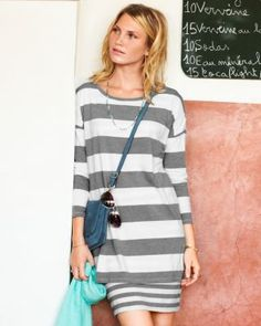 Double-Layer Knit Dress