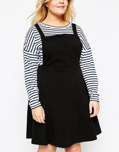 Image 3 ofASOS CURVE Jersey Basic Pinafore Dress