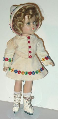 """From """"This Old Doll"""" website. ARRANBEE DOLLS,  14"""" Nancy Skater,  Original outfit.  She is so cute and I love her outfit!"""