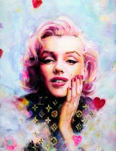 """Marilyn Vuitton,"" Oil on Panel, 16×20″ byCharmaine Olivia On Tumblr"