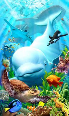 by Jerry LoFaro - animais do mar.