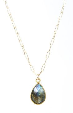 Leolani necklace - labradorite gold necklace maui, hawaii www.kealohajewelry.com
