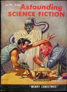 Astounding Science Fiction January cover by Frank Kelly Freas Pulp Magazine, Magazine Art, Magazine Covers, Science Fiction Books, Pulp Fiction, 70s Sci Fi Art, Sci Fi Books, Pulp Art, Fantastic Art