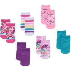 3ec6cf300a3 Garanimals Newborn to Toddler Baby Girls  Shorty Unicorn Print Socks