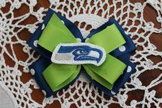Seattle Seahawks Custom hairbow