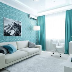 The Pitfall of Most Beautiful Turquoise Living Room Ideas with Chic - targetinspira Blue Couch Living Room, Fancy Living Rooms, Living Room Turquoise, Paint Colors For Living Room, Living Room Interior, Home Room Design, Home Interior Design, Living Room Designs, Sofa Design