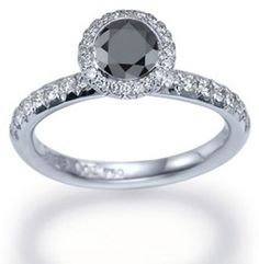 Black Diamond Ring! I am not big on diamonds but like this.