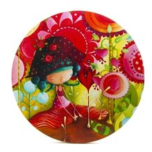 Toile ronde Ketto- Jungle de fleurs  / Ketto's round canvas - Jungle of flowers * www.kettodesign.com