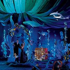 Like the under the sea prom theme? Take a look at these great prom decor, including deep blue arches, seaweed decorations, orca wales and lots of other under the sea party supplies. Dance Themes, Prom Themes, Dance Decorations, Under The Sea Theme, Under The Sea Party, Little Mermaid Parties, The Little Mermaid, Underwater Party, Under The Sea Decorations