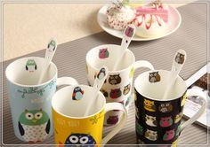 Cartoon ceramic mug with spoon and cover cheap hot-sale mugs, View Cartoon ceramic mug with spoon and cover cheap hot-sale mugs, Product Details from Xiamen Jiayiyuan Import And Export Co., Ltd. on Alibaba.com