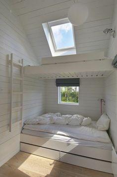 meubles sous pente, lit mezzanine sous les toits