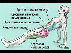 (1) Убрать живот Подтянуть попу и укрепить спину одним упражнением СУПЕРПЛАНКА - YouTube