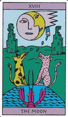 The Moon - Kitty Kahane Tarot