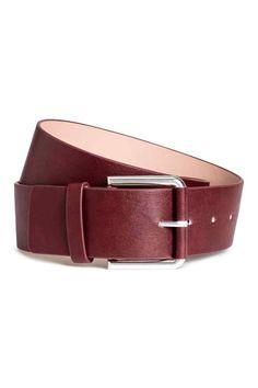 Waist belt - Burgundy - Ladies | H&M GB 1