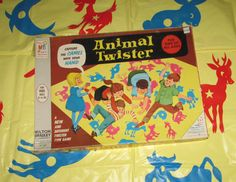 Vintage Childs Active Game, Animal Twister by Milton Bradley, Bright Colorful Graphics - Vintage Childs Active Game Animal Twister by by PuppyLuckArt - Teeth Whitening That Works, Activated Charcoal Teeth Whitening, Teeth Whitening System, Natural Teeth Whitening, Natural Charcoal, Milton Bradley, Animal Games, Simple Life Hacks, Games For Kids