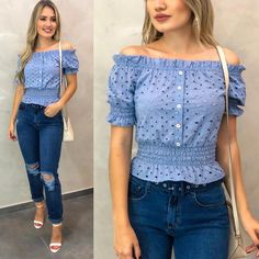 Women's Shirts Blouses has never been so Awesome! Since the beginning of the year many girls were looking for our Fresh guide and it is finally got released. Now It Is Time To Take Action! Modest Fashion, Tween Fashion, Fashion Outfits, Womens Fashion, Look Jean, Girls Blouse, Corsage, Blouse Designs, Stylish Outfits