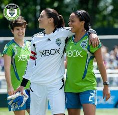 hope solo & sydney leroux | Tumblr. Now both on the Seattle Reign FC professional women's soccer team. #soccer http://www.pinterest.com/TheHitman14/sports-seattle/