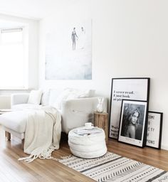 Find images and videos about white, home and design on We Heart It - the app to get lost in what you love. Living Room Interior, Home Living Room, Living Spaces, Piece A Vivre, Scandinavian Home, Living Room Inspiration, Cozy House, Room Decor, House Design