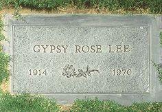 Gypsy Rose Lee, Inglewood Park Cemetery, Inglewood, CA