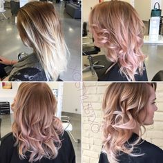 Before and after beige rose gold transformation