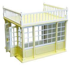 1 12 scale dolls house conservatory dw dh028 room for Maison classique emporium