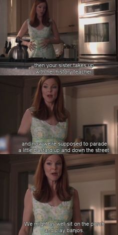 Desperate Housewives. Seriously one of the scenes I remember most out of all 8 seasons! Haha