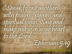 Bible Verses and Scriptures About Singing