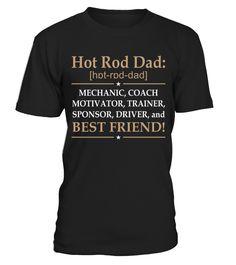 Hot rod Dad definition  #gift #idea #shirt #image #funny #campingshirt #new