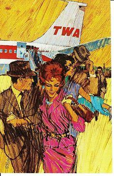 Vintage Travel, Vintage Airline, Water Me, Mode Of Transport, Vintage Advertisements, Wings, Illustration, Wheels, Advertising