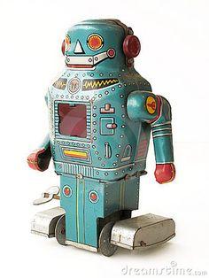 Vintage Toy Robot by John Black, via Dreamstime