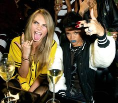 "Rihanna and Cara Delevingne at the ""Rihanna for River Island Launch""  Autumn Collection - 09/10/13"