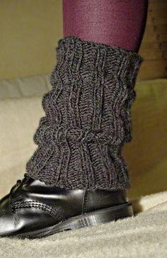 Free Knitting Pattern:  Leg Warmers
